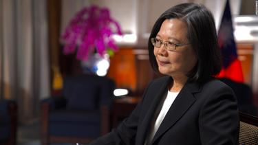 Taiwan's President says the threat from China is increasing 'every day' and confirms presence of US troops on the island